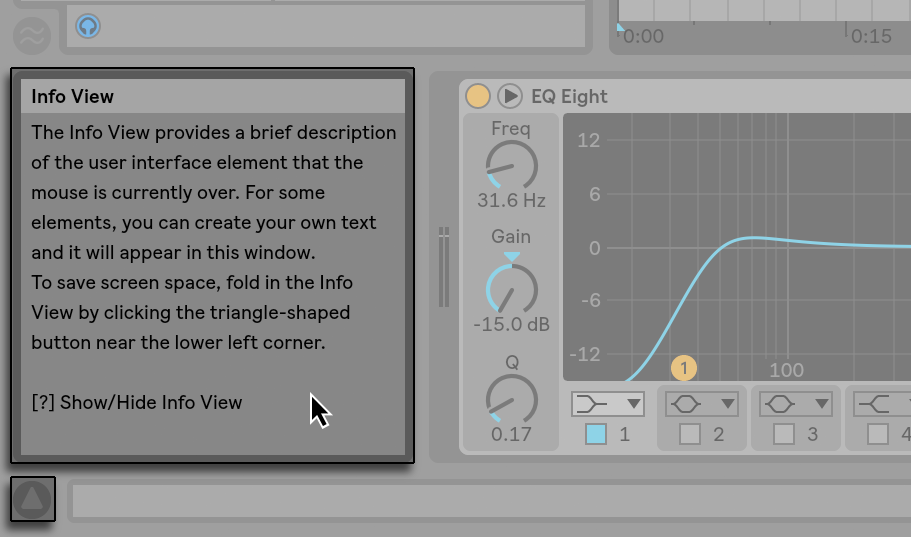 Learn Ableton - Info View